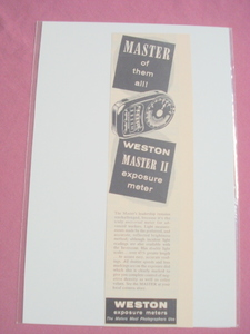 1956 Ad-Weston Master II Exposure Light Meter