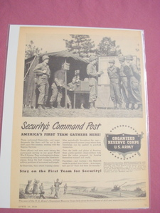 1949 U.S. Army Reserve-Security's Command Post Ad