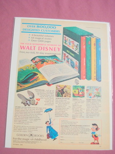 1968 Full Color Four Wonderful Worlds of Disney Books Ad