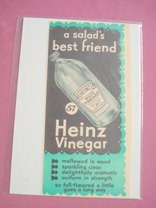 1940's/50's Heinz Distilled White Vinegar Ad
