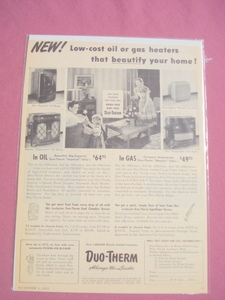 1951 Duo-Therm Oil and Gas Heaters Ad