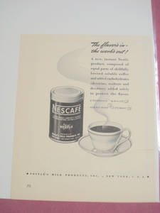 1942 Nescafe Instant Coffee New Product Ad