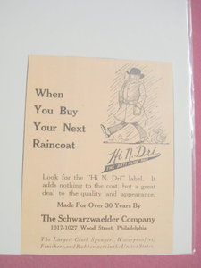 1924 Ad-The Schwarzwaelder Company-Hi N. Dri Raincoat
