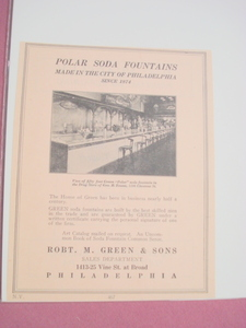 1923 Ad Polar Soda Fountains Philadelphia