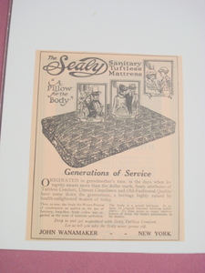 1923 Ad The Sealy Sanitary Tuftless Mattress