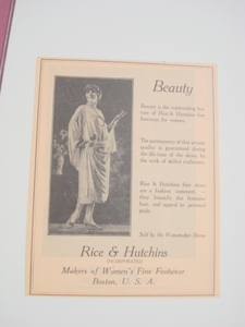 1923 Ad Women's Fine Footwear Rice & Hutchins, Boston