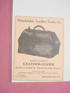 1923 Ad Philadelphia Leather Goods Co. Suit Cases