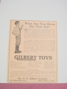 1923 Ad Gilbert Toys A. C. Gilbert Company New Haven
