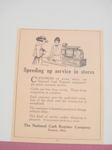 1923 Ad The National Cash Register Company Dayton, Ohio