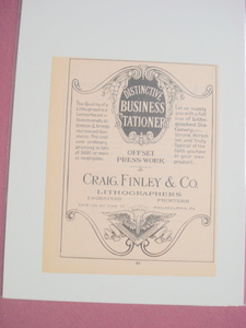 1924 Ad Craig, Finley & Co. Lithographers Philadelphia
