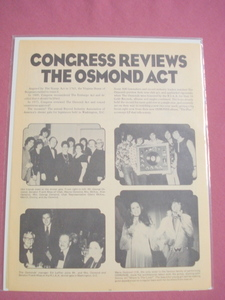 1973 Osmond Brothers in Washington, DC Magazine Article Donny & Marie
