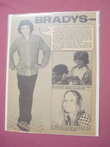 1973 Chris Knight Two Page Brady Bunch Magazine Article