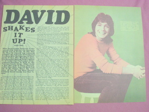 1973 David Cassidy Two Page Magazine Article