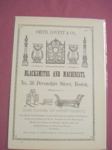 1853 Ad Smith, Lovett & Co., Inc. Iron Fences Boston