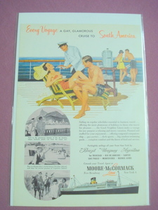 1953 Moore-McCormack Lines Voyage to South America Ad