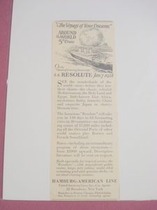 1927 Hamburg-American Line The Voyage of Your Dreams Ad