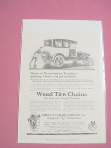 1920 Weed Tire Chains Ad American Chain Co., Bridgeport