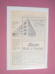 1915 Fenestra Solid Steel Windows Ad Detroit Steel Products Company