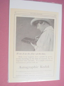 1915 Autographic Kodak Camera Ad