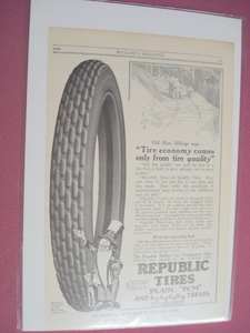 1915 Republic Tires Ad Republic Rubber Co., Youngstown