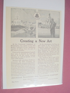 1915 AT&T Ad Panama-Pacific Exposition