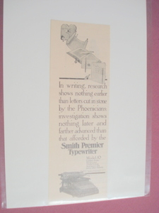1913 Smith Premier Typewriter Ad Syracuse, N. Y.