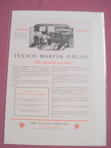 1930 Texaco Marfak Grease Ad