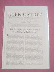 1930 Texaco Magazine Article Carbon Residue & Lubrication