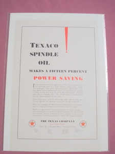1930 Texaco Spindle Oil Ad