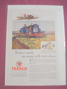 1930 Texaco Lubricants In The Steel Industry Color Ad