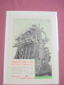 1930 Texaco USRA Oil For Diesel Lubrication Ad