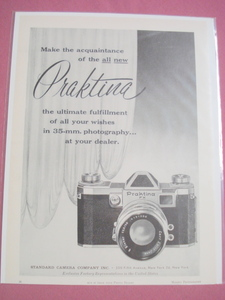 1956 Ad Praktina 35mm Camera The Ultimate Fulfillment