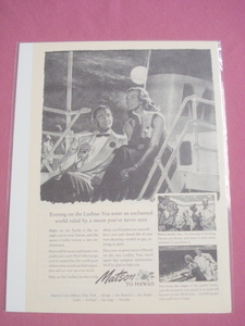1948 Ad Matson to Hawaii Lurline Cruise Ship