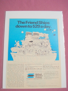 1970 Holland America Cruises Ad