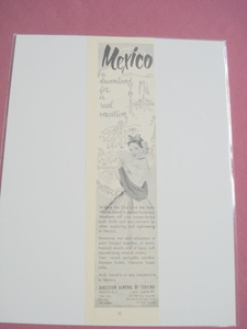 1951 Mexico Tourism Ad Dreamland For A Real Vacation