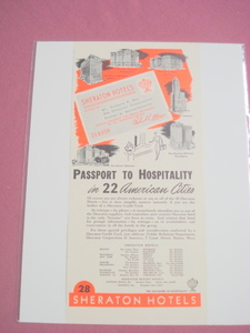 1948 Ad Sheraton Hotels Passport To Hospitality