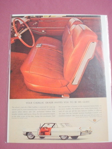1964 Cadillac Color Ad Featuring the Driver's Seat