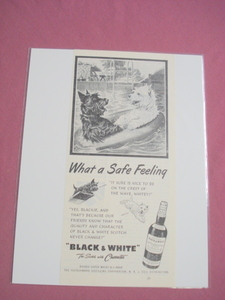1951 Ad Black & White Scotch What A Safe Feeling