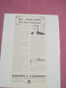 1951 Knights of Columbus, St. Louis, Mo. Ad
