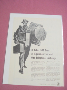 1951 Bell Telephone System Ad 500 Tons of Equipment
