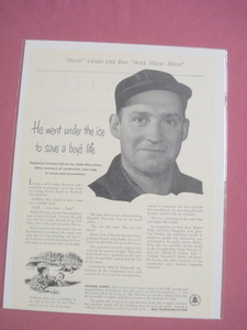 1951 Bell Telephone System Ad Lineman Saves Boy's Life