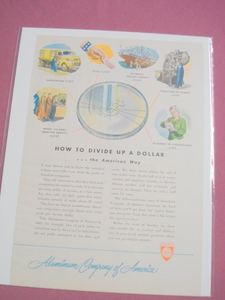 1948 Alcoa Color Ad Profit of American Companies