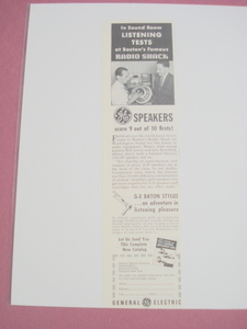 1951 Ad General Electric Speakers G.E.