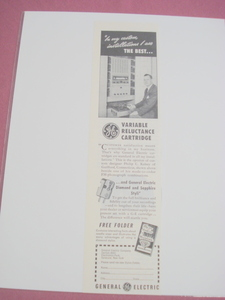 1951 General Electric Variable Reluctance Cartridge Ad