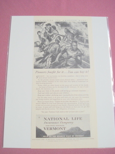 1948 Ad National Life Vermont Insurance Company