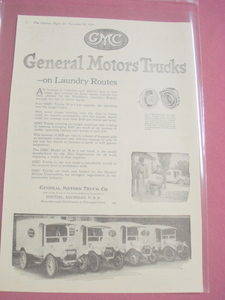 1919 GMC Ad General Motors Truck Co. Pontiac, Mich.