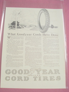 1917 Ad Goodyear Cord Tires Goodyear Tire & Rubber Co.