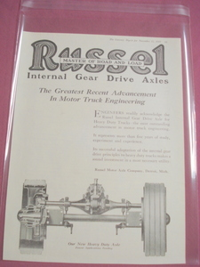 1919 Ad Russel Motor Axle Company, Detroit, Mich.