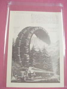 1919 Ad Kelly Springfield Tire Co. With Logging Truck