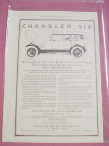 1917 Ad Chandler Six, Chandler Motor Car Co. Cleveland